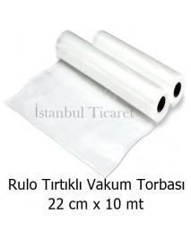 Rulo Tırtıklı (Gofrajlı) Vakum Torbası 22 cm x 10 mt
