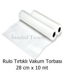 Rulo Tırtıklı (Gofrajlı) Vakum Torbası 28 cm x 10 mt