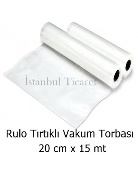 Rulo Tırtıklı (Gofrajlı) Vakum Torbası 20 cm x 15 mt
